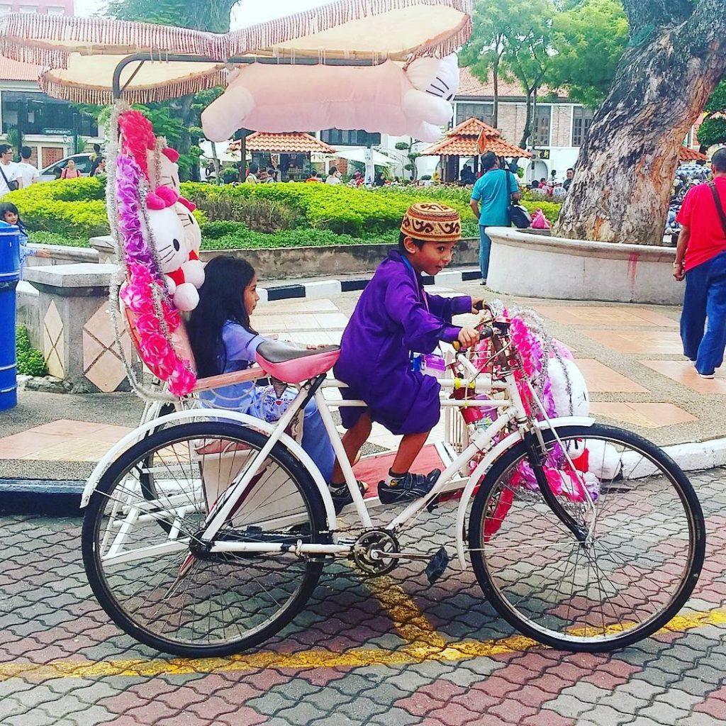 trishaw melaka malacca malaysia red square
