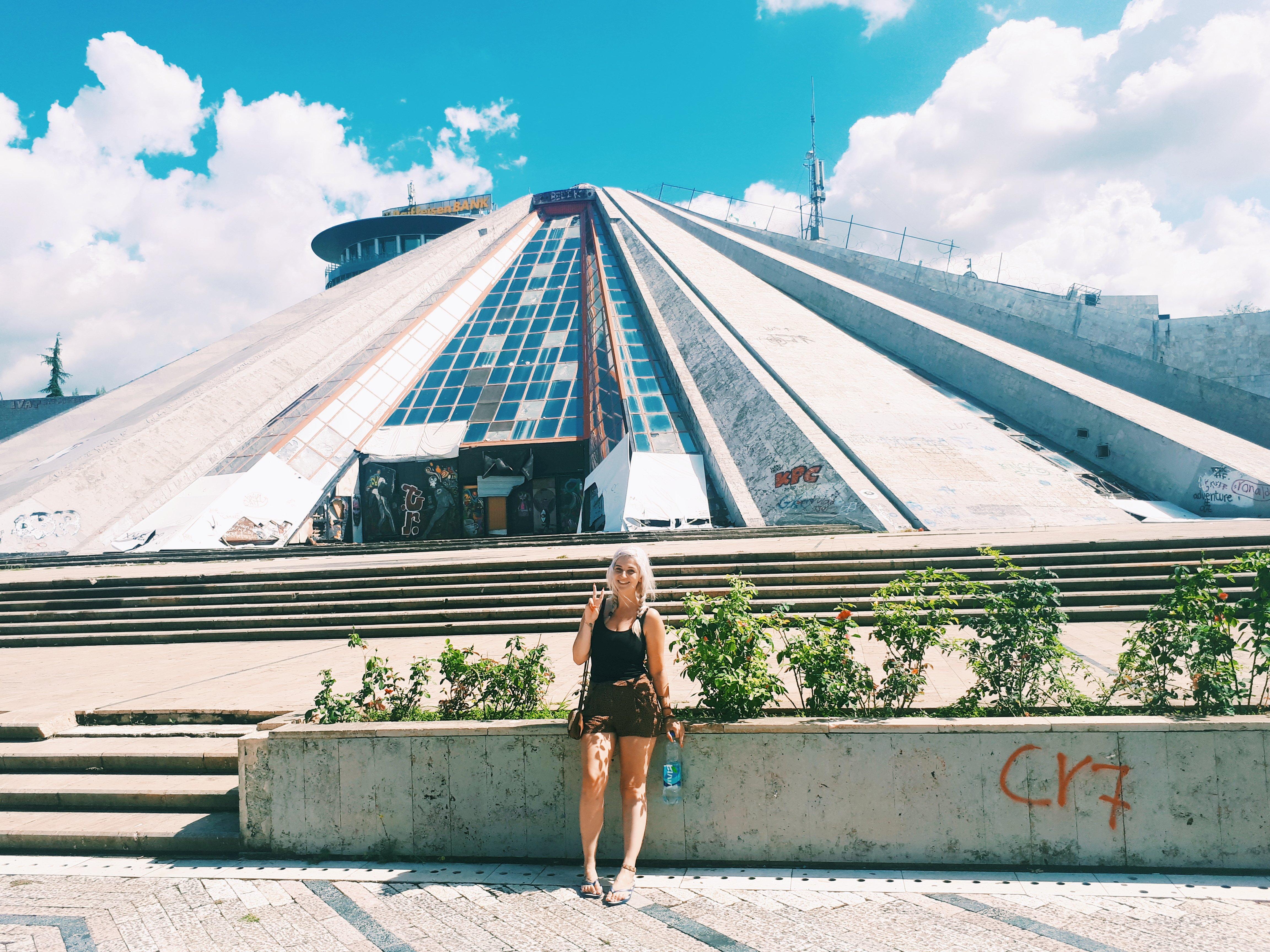 tirana itinerary pyramid