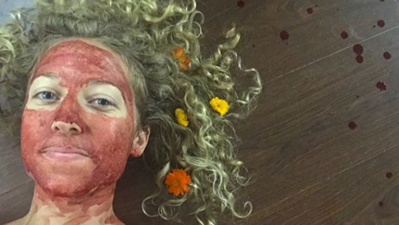 Woman Smears Menstrual Blood on Her Face to Show That Periods Are Beautiful