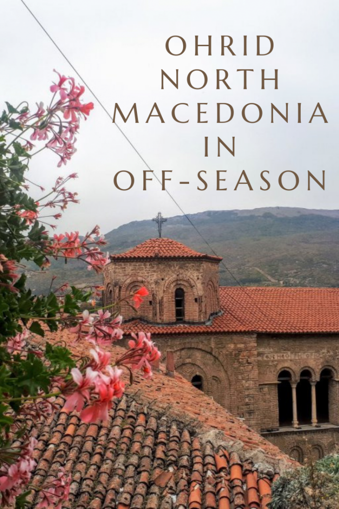Should you visit Ohrid, North Macedonia in Off-Season? The weather may not be great for swimming and boat trips but there are still plenty of reasons to visit Ohrid in low season - in this article, I'll outline a few! #ohrid #lakeohrid #northmacedonia