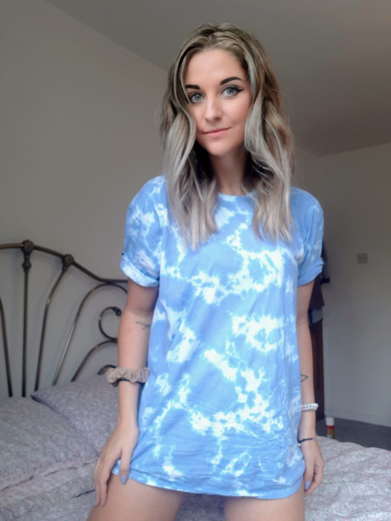 Mid Blue Tie Dye Oversized T-Shirt - Veda