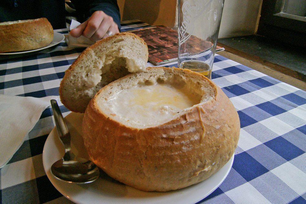 one day in bratislava, slovak food